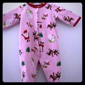 Cute preowned 6 month old sleep Christmas onesie